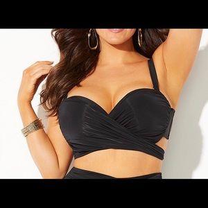 Gabifresh black wrap bikini top 18 e/f